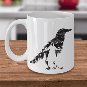 The Crow Mug, Crow Bird Mug, Crow Gift Coffee Mug