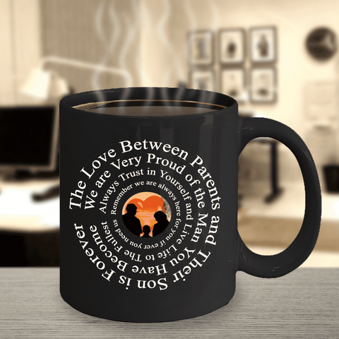 "Image of Gift for Son, ""The Love Between Parents and Their Son Is Forever..."" Mug Gift For Son"