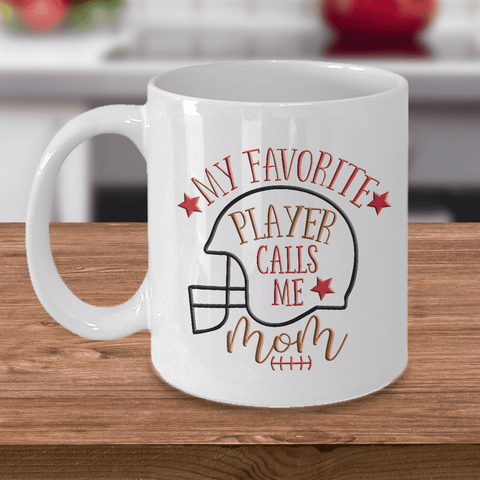 "Image of Mom Gift, ""My Favorite Player Calls Me Mom"" Sports Mom Gift"