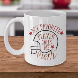 "Mom Gift, ""My Favorite Player Calls Me Mom"" Sports Mom Gift"
