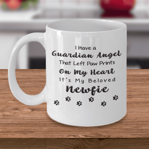 Image of Newfie Memorial Gift,  I Have a Guardian Angel... Newfie, Pet Remembrance Gift