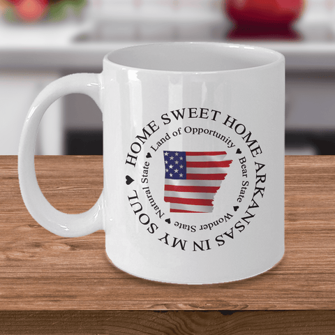 Image of Home Sweet Home Arkansas In My Soul USA Gifts for Patriots