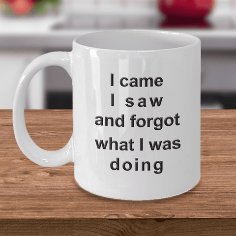 Image of Funny Old Age Mug I Came I Saw I Forgot What I Was Doing Fun Getting Old Coffee Mug