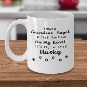 Husky Memorial Gift,  I Have a Guardian Angel.. Husky, Pet Remembrance Gift