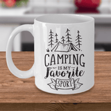 Camping Is My Favorite Sport, Funny Camping Mug for Work or Office
