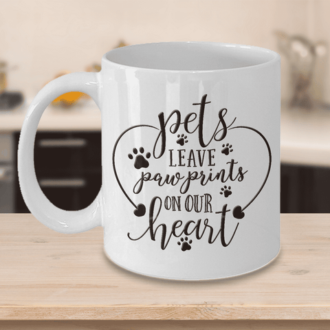 Image of Dog Memorial Gift, Pets Leave Paw Prints On Our Heart, Pet Remembrance Gifts