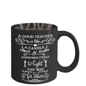 Best Teacher Appreciation Gifts for Men Women A Good Teacher is Like a Candle...Mug for Teacher