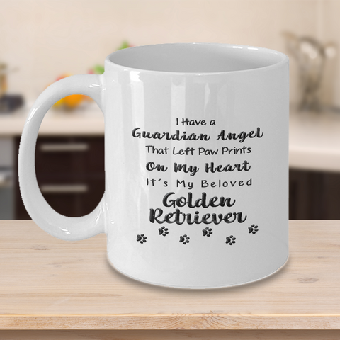 Image of Golden Retriever Memorial Gift,  I Have a Guardian Angel ...Golden Retriever, Pet Remembrance Gift