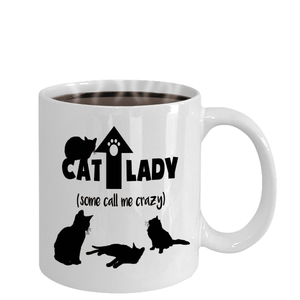 Funny Cat Lady Gift Some Call Me Crazy Cat Lovers Coffee Mug For Cat Enthusiast