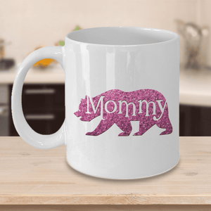 Gift for Mom, Mommy Bear, Cute Bear Mug Gift for Mother