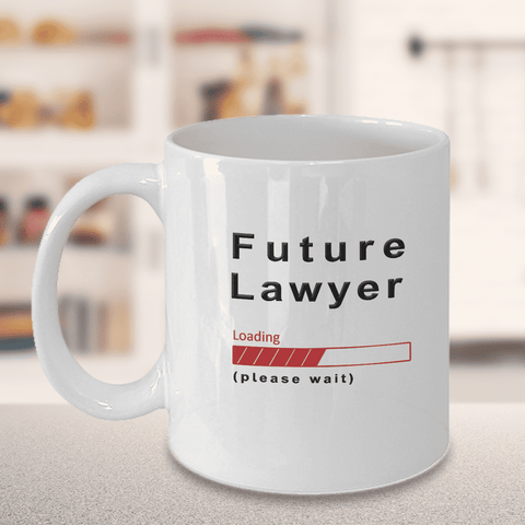 Image of Future Lawyer Loading Please Wait Coffee Mug Gifts for Women and Men, Lawyer in Training Cups