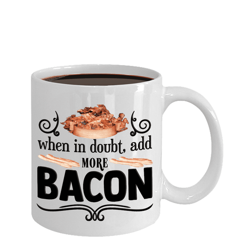 Image of Bacon Lovers Gifts For The Bacon Lover In Your Family Funny Bacon Lover Ceramic Coffee Mug Gift