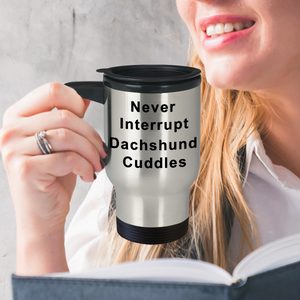 Dachshund Coffee Mug Never Interrupt Dachshund Cuddles Dachshund Gifts Women