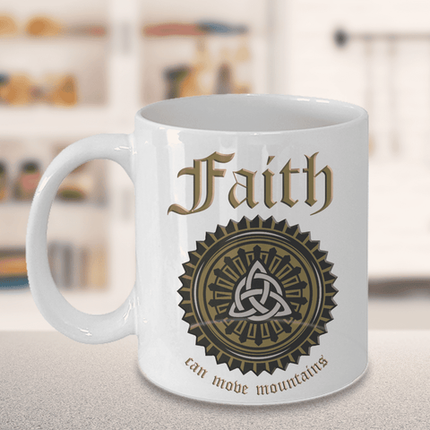 Christian Bible Verse Gifts Faith Can Move Mountains Coffee Mug Faith Gift Cup