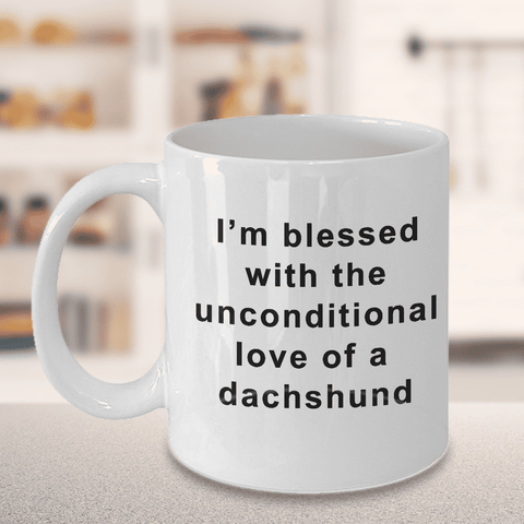 Image of Dachshund Coffee Mug Blessed Unconditional Love Dachshund Gifts for Women
