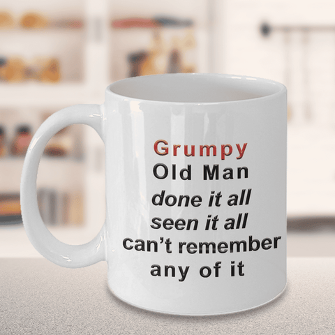 Image of Grumpy Old Man Coffee Mug Gift Funny Getting Old Age Cup Gift for Dad, Grandpa