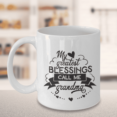 Image of Best Gift for Grandma,  My Greatest Blessings Call Me Grandma, Grandma Gift