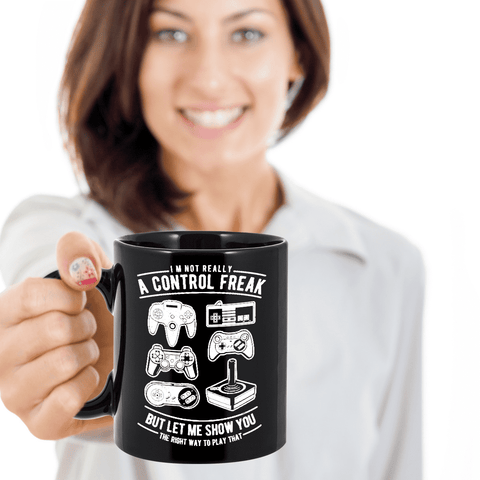 Image of Funny Remote Control Freaks Mug The Best Coffee Mug Gift For Gamers That Are Ultimate  Control Freaks