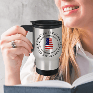Home Sweet home Alabama, Alabama In My Soul,  USA Patriotic Travel Mug