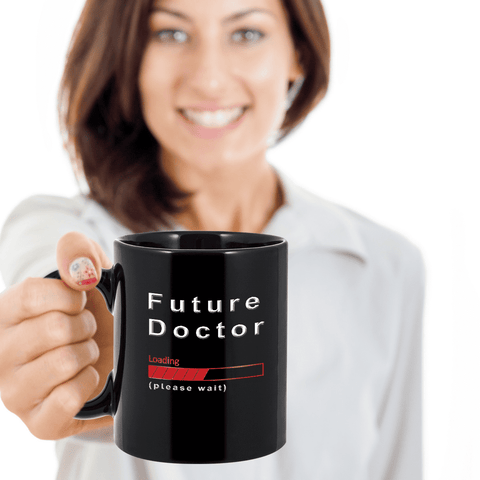 Image of Future Doctor Loading Please Wait  Gifts Mugs for Women   Men Doctors Cups
