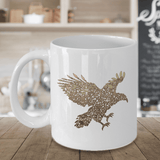 Golden Eagle, Fun Eagle Coffee Mug, Unique Design with Eagles  Eagle Mug