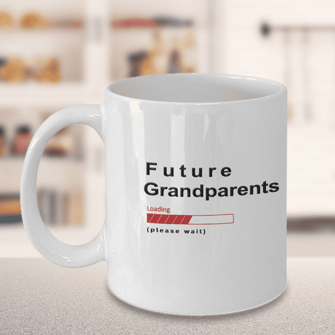Image of Future Grandparents Loading Please Wait Coffee Mug Gifts for Grandparents