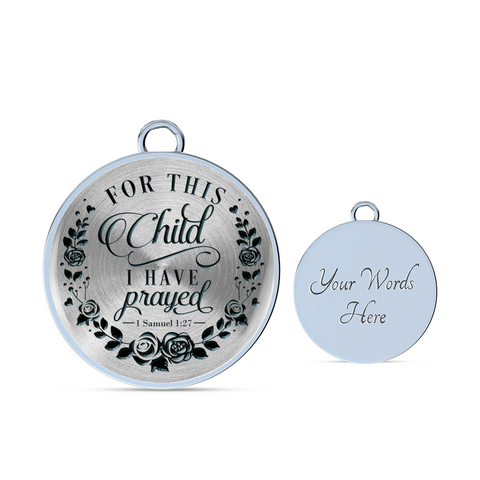 Faith Gift,  For This Child I Have Prayed. 1 Samuel 1:27 Bible Verse Gift
