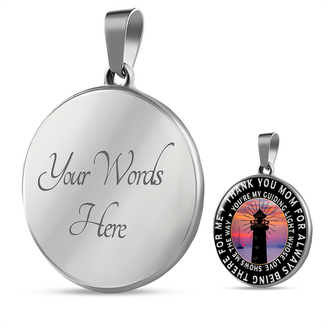 Image of Unique Mothers Day Gifts Birthday Gifts Thank you Mom For Being There Pendant