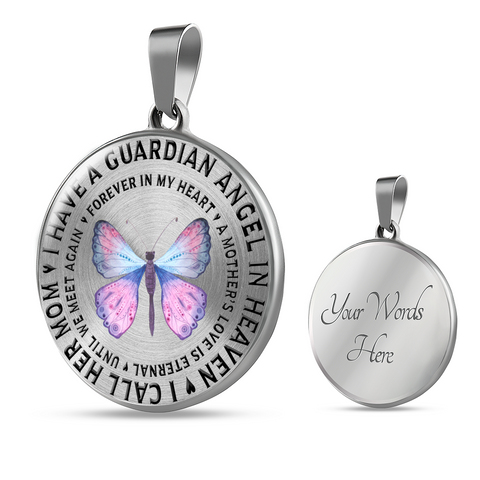 Memorial Gifts I Have a Guardian Angel in Heaven, I Call Her Mom Remembrance Gifts