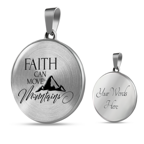 "Image of Faith Gift, ""Faith Can Move Mountains"" Bible Verse Gifts"