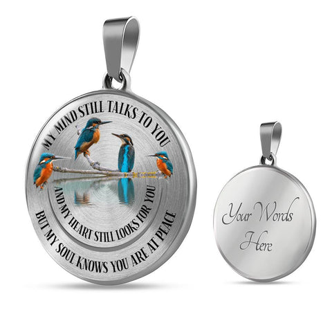 In Loving Memory Kingfisher Luxury Pendant Gift My Mind Talks to You Memorial Necklace V2