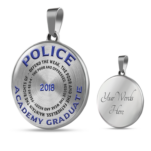 Police Academy Graduate 2018 Psalms 82:3-4 Gifts Graduation gifts for Her Pendant and Bracelet