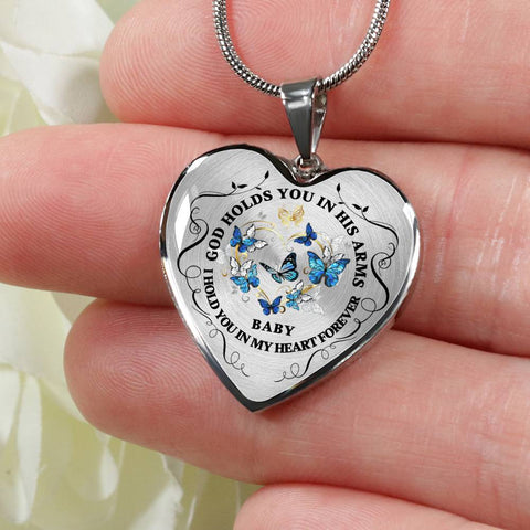 Baby Memorial Heart Luxury Pendant Gift In Loving Memory of Child Keepsake Necklace