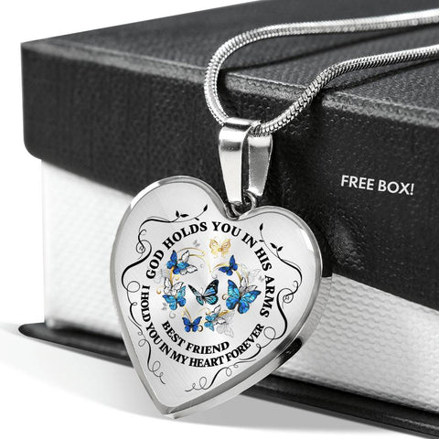 Image of Best Friend Memorial Heart Luxury Pendant Gift In Loving Memory Keepsake Necklace