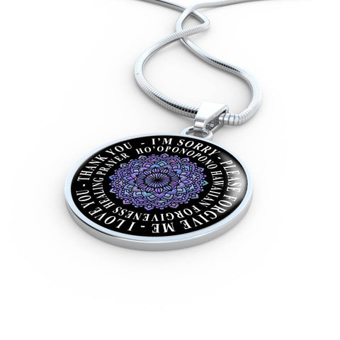 Hoʻoponopono Mandala Pendant Hawaiian Prayer for Healing Necklace