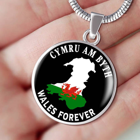 Cymru Am Byth Pendant Wales Forever Welsh National Pride Necklace
