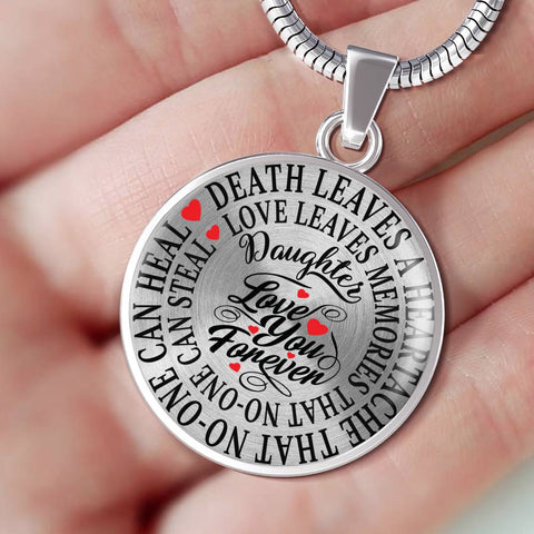 Daughter Memorial Luxury Pendant Gift In Loving Memory Death Leaves a Heartache Love Memories Necklace