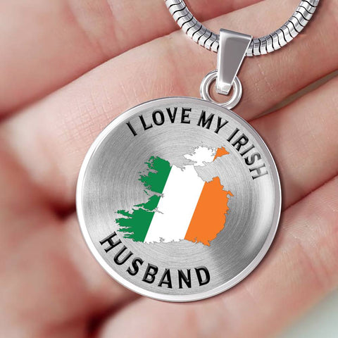 I Love My Irish Husband Pendant Gift for Valentine's Day Birthdays Surprise Necklace