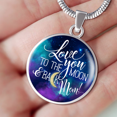 Best Gift for Mom, Love You To the Moon and Back Mom Gift Birthday Gift for Mom