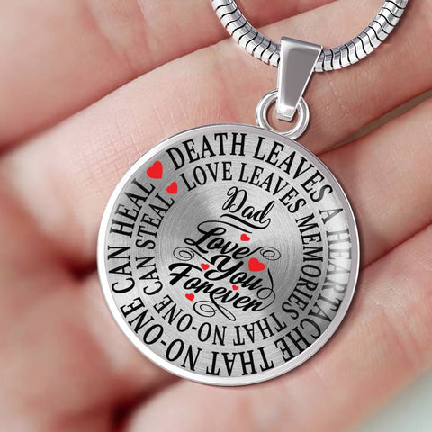 Dad Memorial Luxury Pendant Gift In Loving Memory Death Leaves a Heartache Love Memories Necklace