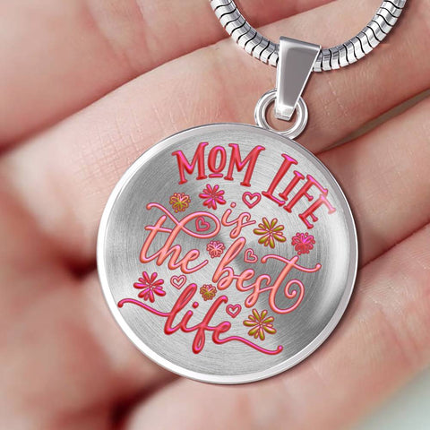 Mom Life is the Best Life Pendant Gift Happy Mother's Day Novelty Birthday Necklace