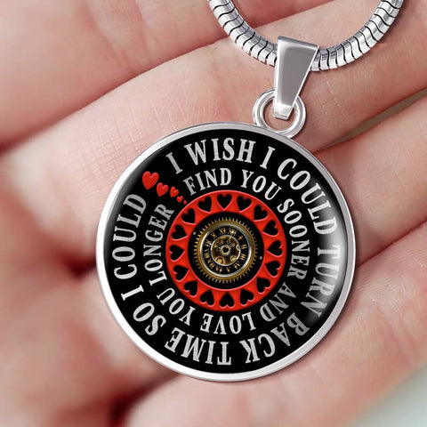 Romantic Gift Luxury Pendant for Her I Wish I Could Turn Back Time Find You Sooner Love You Longer Novelty Birthday Necklace