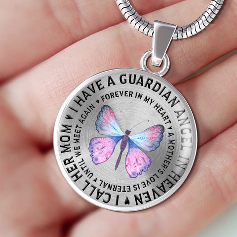 Image of Memorial Gifts I Have a Guardian Angel in Heaven, I Call Her Mom Remembrance Gifts