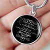 Psalm 61 Faith Gift When My Heart is Overwhelmed... Psalm 61:2 Bible Verse Gift Pendant
