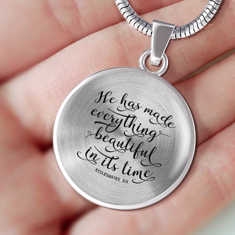 "Image of Faith Gift, ""He Has Made Everything Beautiful In Its Time"" Ecclesiastes 3:11 Bible Verse Gift"
