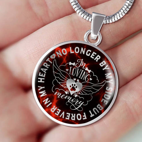 In Loving Memory Dog Luxury Pendant Gift Pet Memorial Keepsake V2