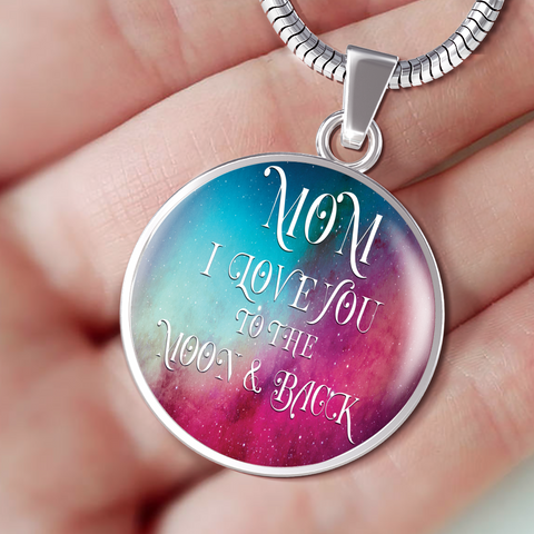 Best Gift for Mom Mom I Love You To Moon and Back Mother's Day Gift Birthday Gift