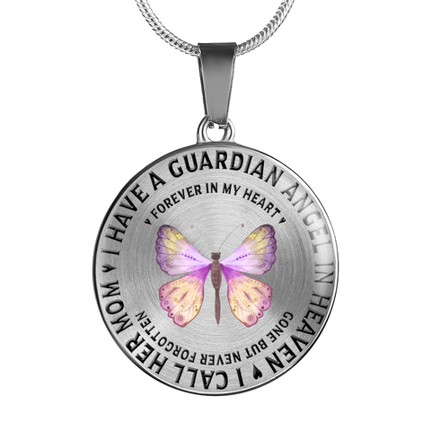 Memorial Gifts, I Have a Guardian Angel in Heaven, I Call Her Mom Remembrance Gifts