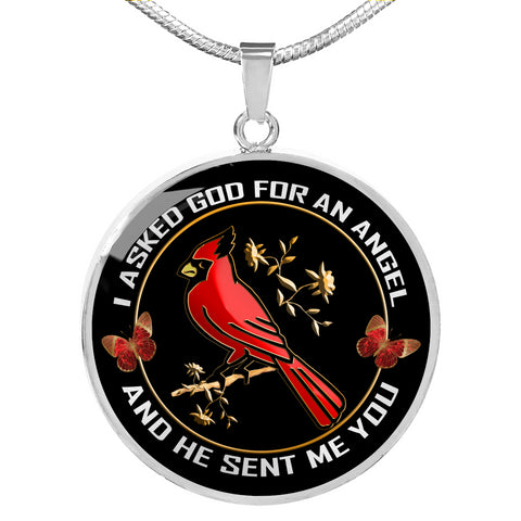 I Asked God for An Angel Cardinal Luxury Pendant Gift He Sent Me You Necklace