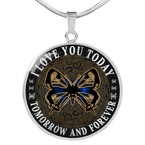 I Love You Butterfly Luxury Pendant Gift Today Tomorrow Forever
